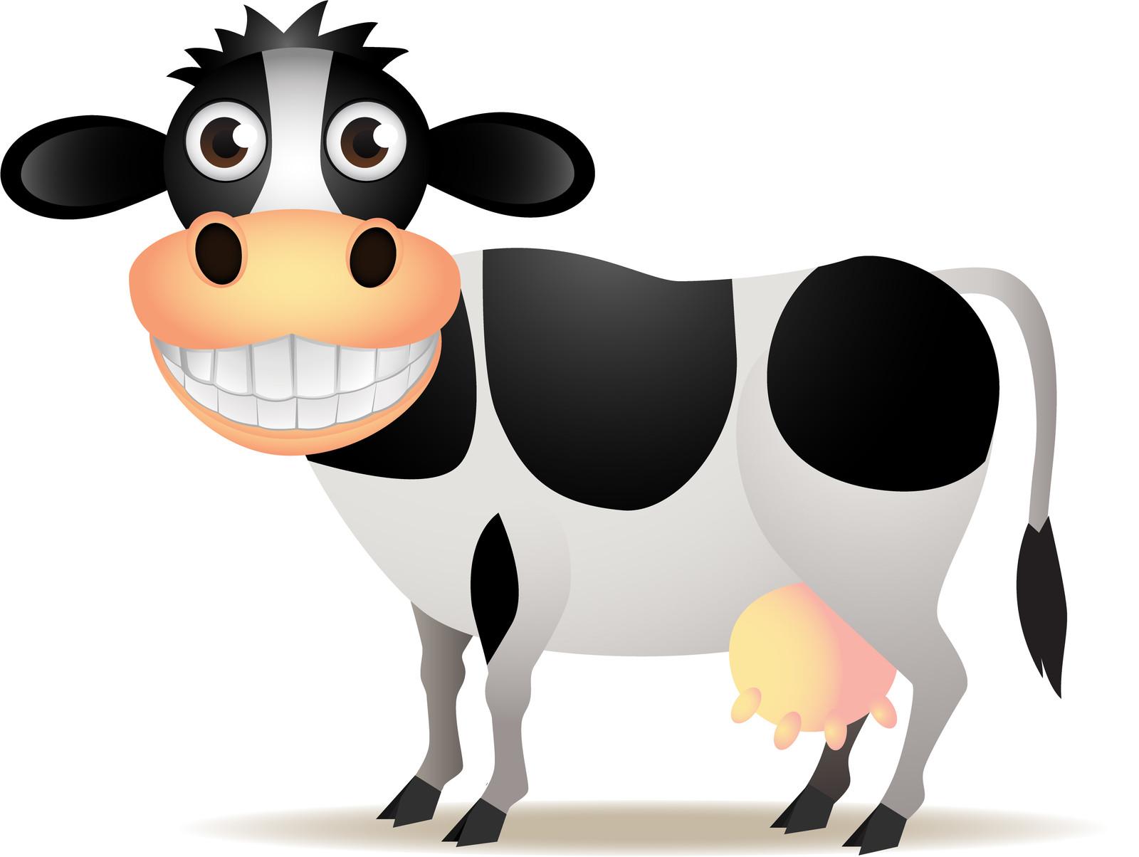 Корова рисунок смешной