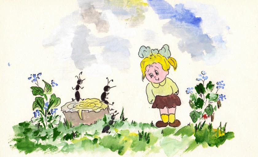 Друзі-мурахи, або Як Поліна заприятелювала з Веронікою