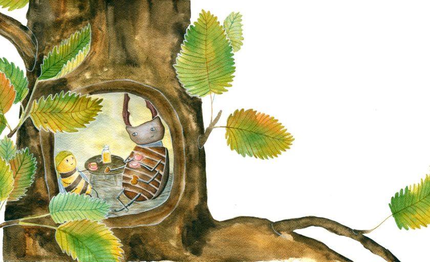 Бджілка та жук